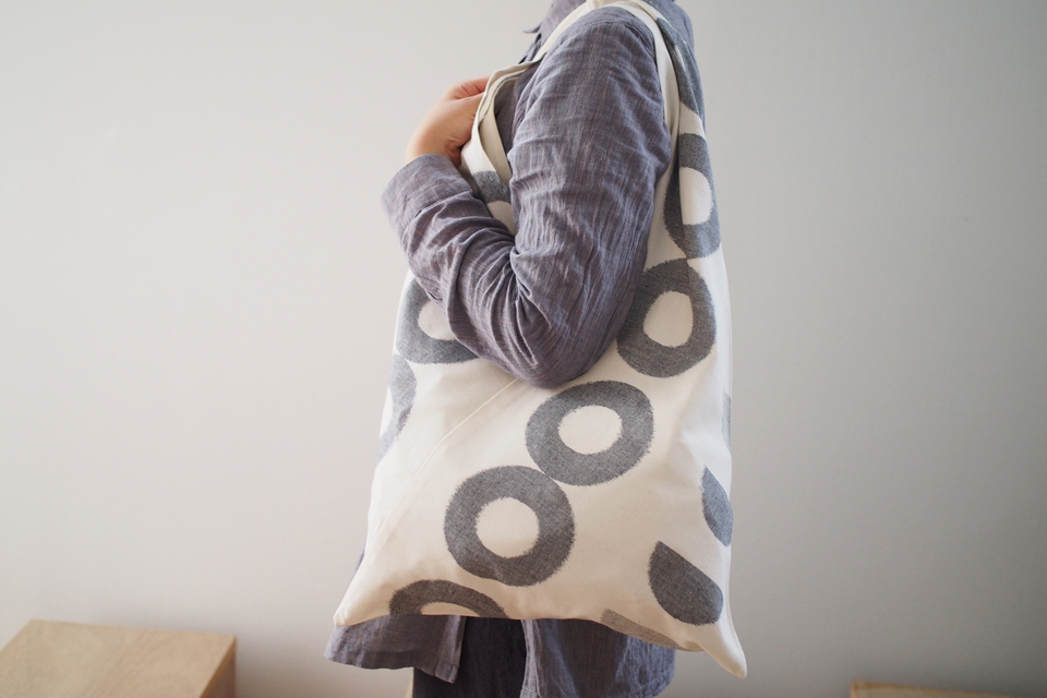 久留米絣 TRIANGLE TOTE BAG (46/D. - THE GOOD OLD PRODUCTS)